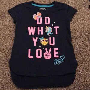 Nickelodeon JoJo Siwa Blue Tee Shirt Pink Wording